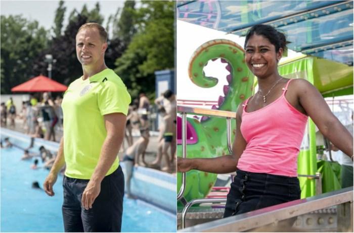 Hittegolf in Antwerpen: verkoeling in het zwembad of spelen op een broeierige Sinksenfoor