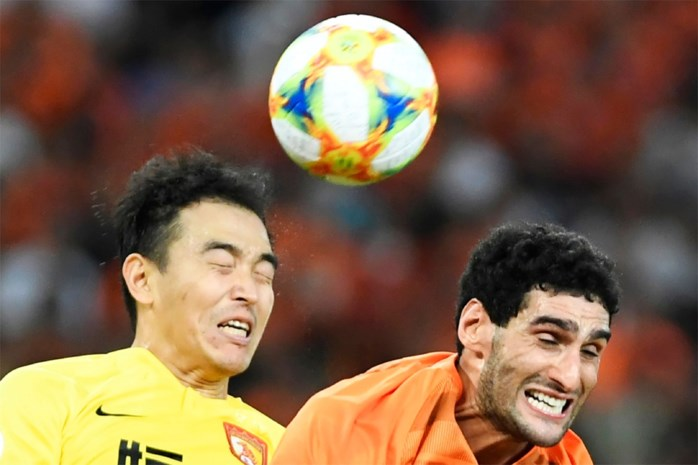 Marouane Fellaini scoort knap doelpunt als volleerde spits maar is uitgeschakeld in Aziatische Champions League