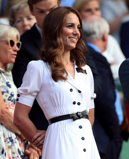 Kate Middleton straalt in het wit op Wimbledon