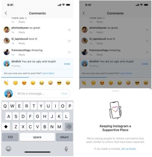 Instagram stelt hulpmiddelen in de strijd tegen cyberpesten voor