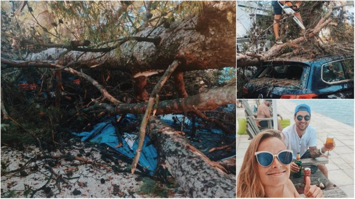 Koppel ontsnapt aan dood tijdens superstorm in Kroatië