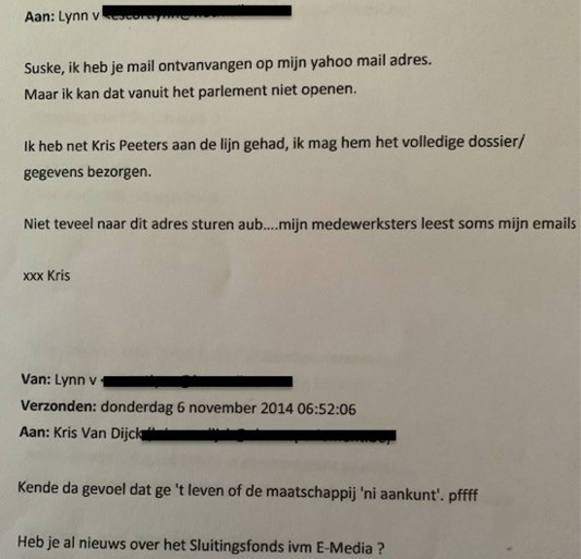 Kris Van Dijck neemt ontslag als parlementsvoorzitter, maar ontkent dat hij escortdame hielp met fraude