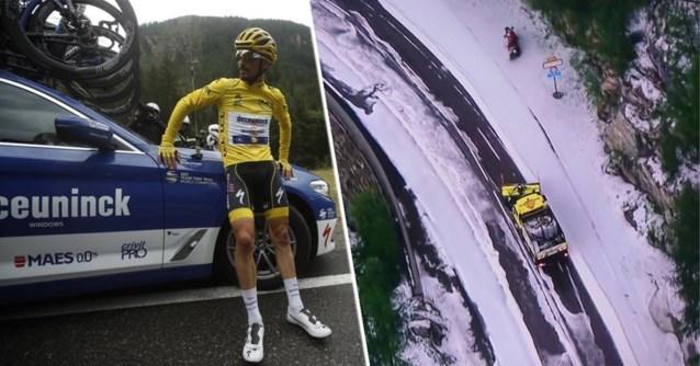 Sensationele ontknoping: Touretappe stilgelegd door sneeuw en modder, Bernal in het geel maar geen ritwinnaar