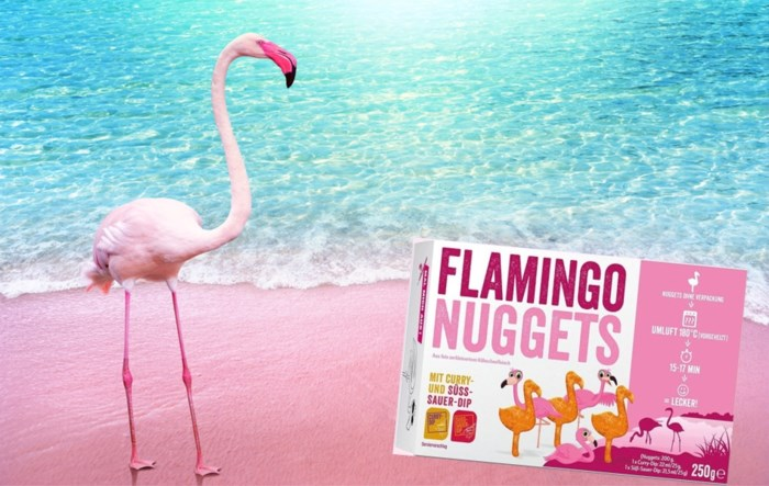 Lidl legt flamingo-nuggets in de rekken