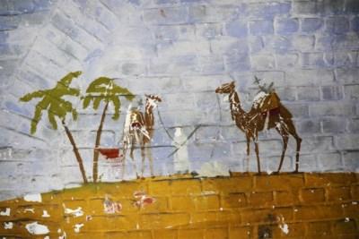 Opmerkelijke 'grafitti' in Fort 2: oude militaire muurschilderingen uit Tweede Wereldoorlog