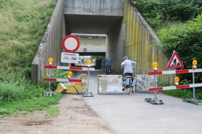 Chauffeurs pikken onderbreking Elzendreef niet en slepen betonblokken weg