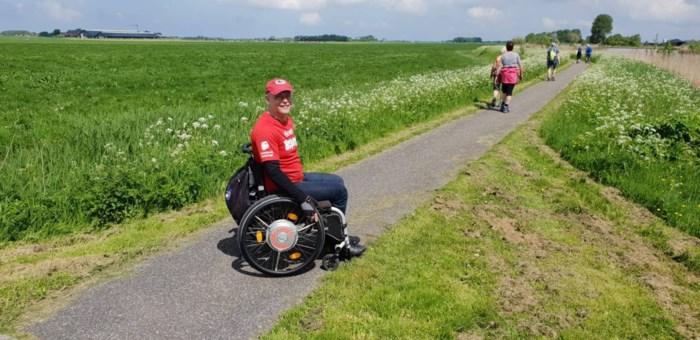 Eric legt 500 kilometer tussen Friesland en Antwerpen af in zijn rolstoel