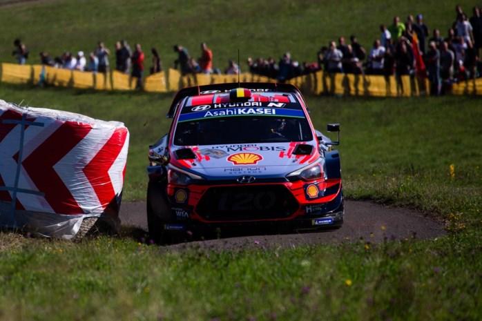Ott Tänak voorlopig snelste tijd tijdens Rally van Duitsland, Thierry Neuville vierde