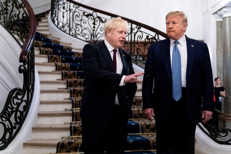 """Donald Trump en Boris Johnson ontmoeten elkaar tijdens hartelijk werkontbijt: """"Hij is de geknipte man voor de Brexit"""""""