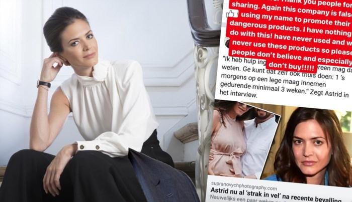 """Astrid Coppens slachtoffer van oplichters: """"Koop hun gevaarlijke producten niet"""""""