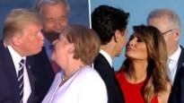 Zoenen op de G7: onhandige kus van Trump en Merkel, Melania en Trudeau doen geruchtenmolen draaien