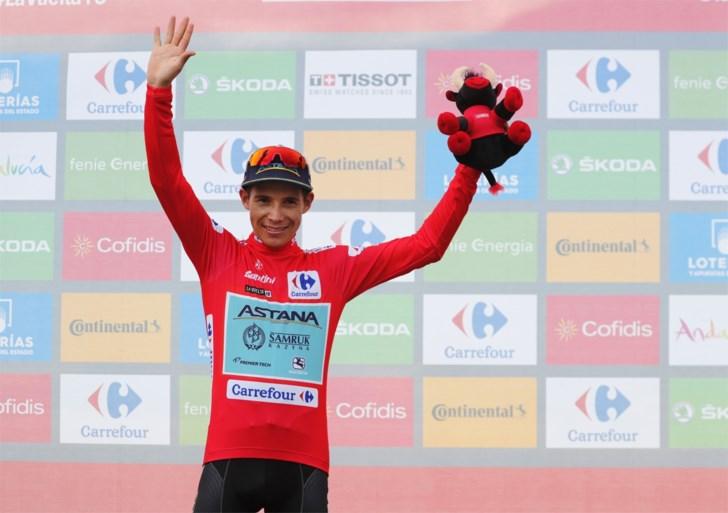 Wereldkampioen Alejandro Valverde (39) triomfeert in de Vuelta na spannende slotklim , Dylan Teuns is leider af