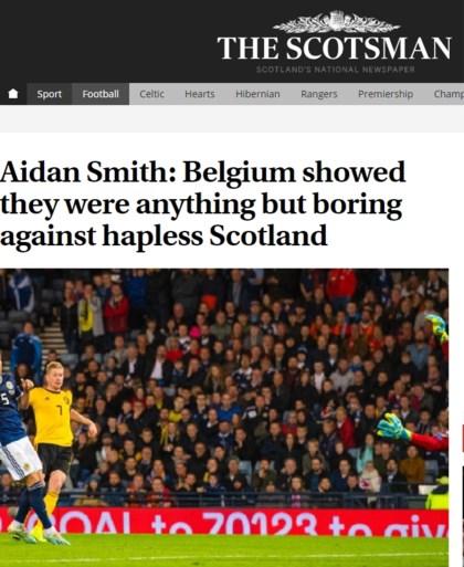 """Schotse pers met handen in het haar na blamage: """"Rode Duivels, geel gevaar, noem ze wat je wil"""""""