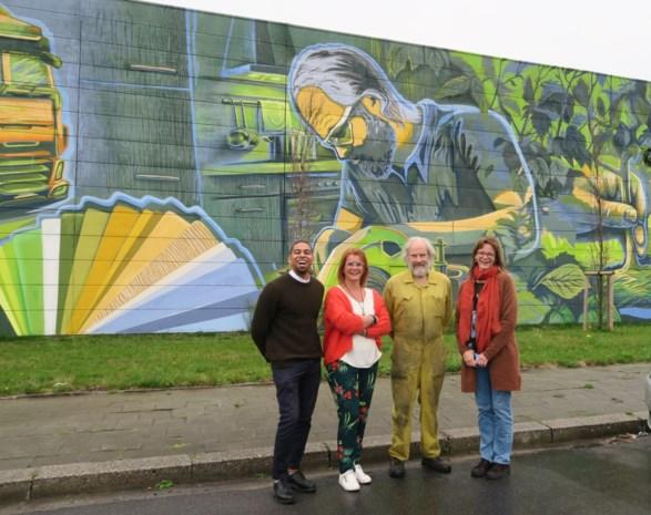 Grootste muurschildering van de provincie is te zien in Wijnegem