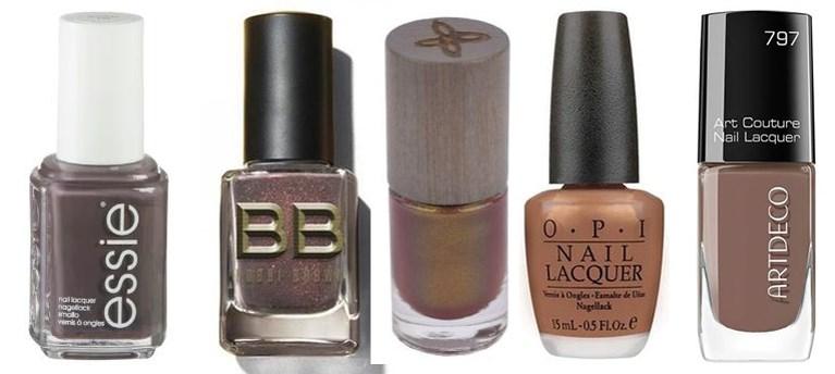 Bruin, brons en beestig: nagellaktrends voor de herfst