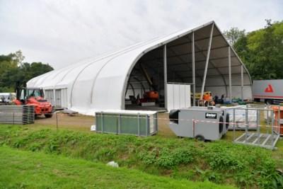 """Immense tent verrijst op Campus Drie Eiken: """"Deze aula zal zeker niet minder comfortabel zijn"""""""