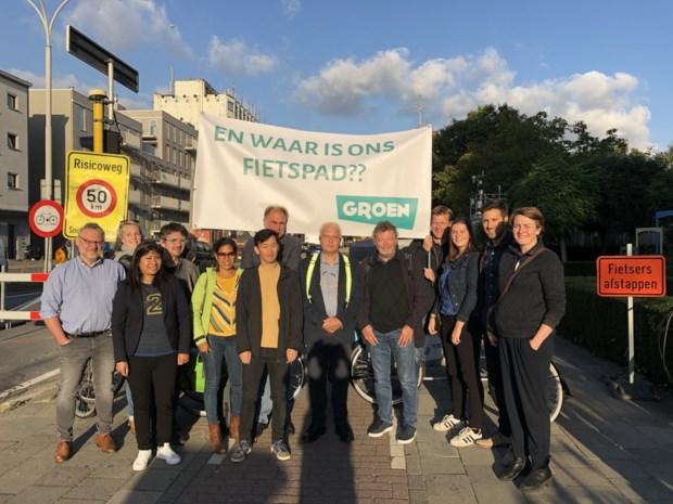 Groen voert actie voor fietsveiligheid op Plantin en Moretuslei