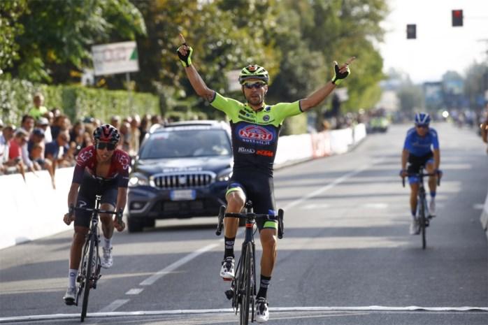 Giovanni Visconti klopt Tourwinnaar Egan Bernal in Memorial Alfredo Martini