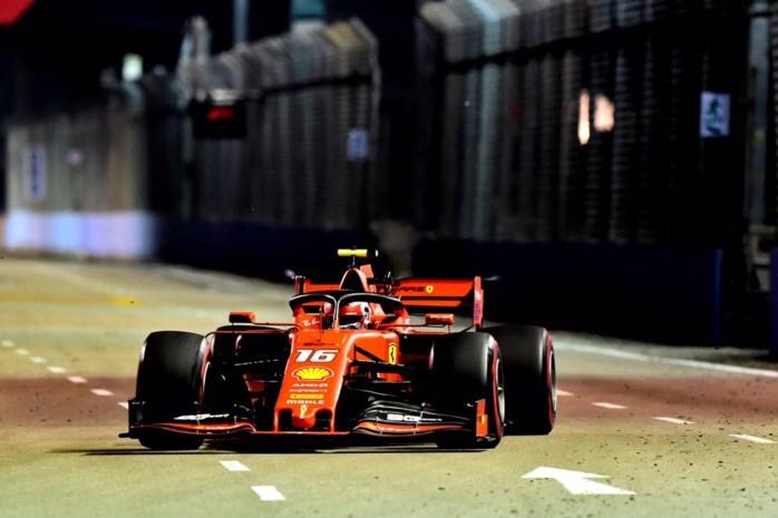 Ferrari plots bovenaan tijdens laatste oefensessie GP van Singapore