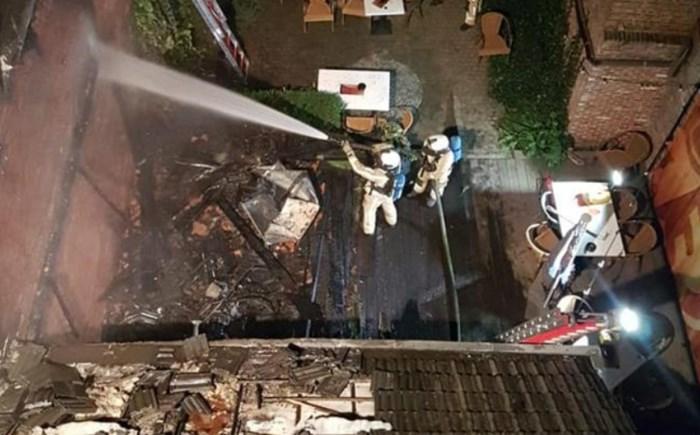 """Brand vernielt achterbouw Café 13: """"Maar met de kermis ben ik weer open"""""""