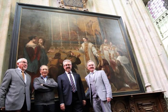 Gerestaureerd zeventiende-eeuws schilderij pronkt opnieuw in Onze-Lieve-Vrouw-over-de-Dijlekerk