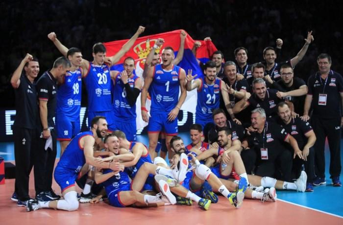 Servië pakt derde Europese titel in het volleybal