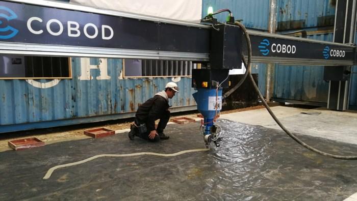 Kamp C toont kunstjes met 3D-betonprinter aan bouwsector