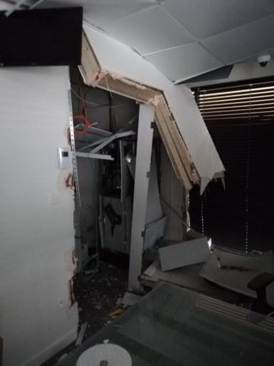 Plofkraak in bankkantoor van Argenta: geen buit, wel veel schade