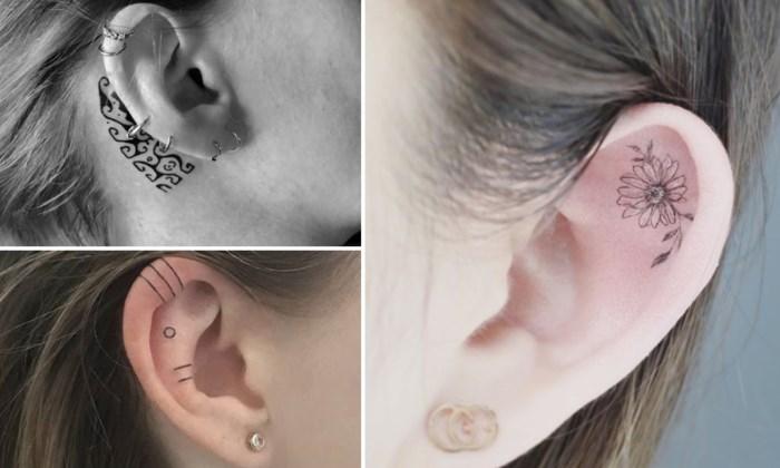 TREND. Een kleine tattoo in je oor
