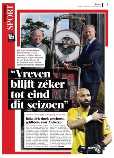 Stijn Vreven ontslagen als coach van Beerschot, Losada neemt over