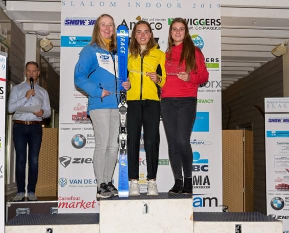 """Louise Van den Bosch behaalt zilver op BK indoor ski: """"Ik wil naar de wereldtop"""""""