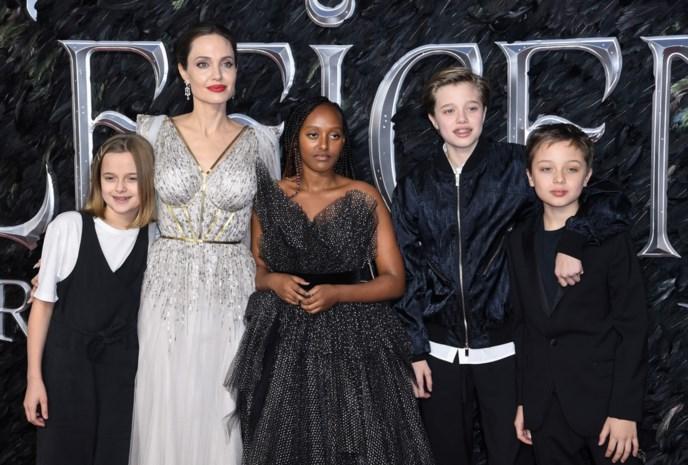 Angelina Jolie neemt haar kinderen mee op de rode loper