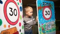 Kinderkunst als verkeersremmer