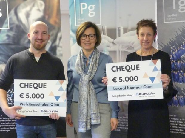 Aurubis schenkt 10.000 euro in de strijd tegen armoede