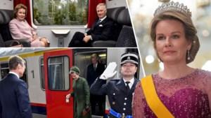 Verbazing over kledingwissel van koningin Mathilde op trein