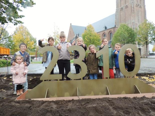 2310-structuren uit cortenstaal geplaatst als verwijzing naar Dag van Rijkevorsel