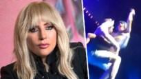 Lady Gaga dondert van podium nadat fan zangeres oppakt en met haar wil dansen