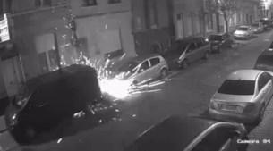Videobeelden granaataanslag in Guldensporenstraat vrijgegeven: parket zoekt dader uit filmpje