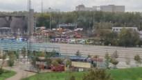 Zwaar ongeval tussen politiewagen en vuilniswagen op Noordersingel