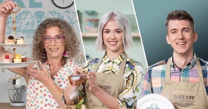 Alle drie bakken talent: de drie finalisten van 'Bake Off Vlaanderen' gewikt en gewogen