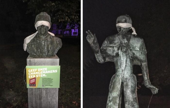 Puurs maakt standbeelden blind in plaats van monddood