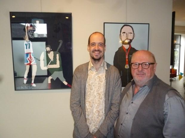 Kunstenaar Hans viert 35ste verjaardag met vernissage