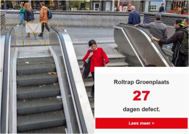 Het wereldrecord 'langstdurend defect aan een roltrap in hartje stad' staat op 27 dagen… and counting