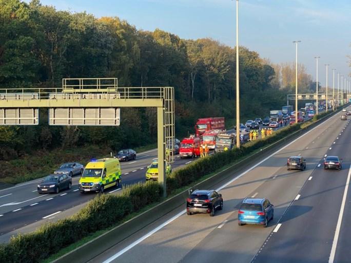 Vrachtwagen botst tegen vangrail op E313: bestuurder gewond naar ziekenhuis