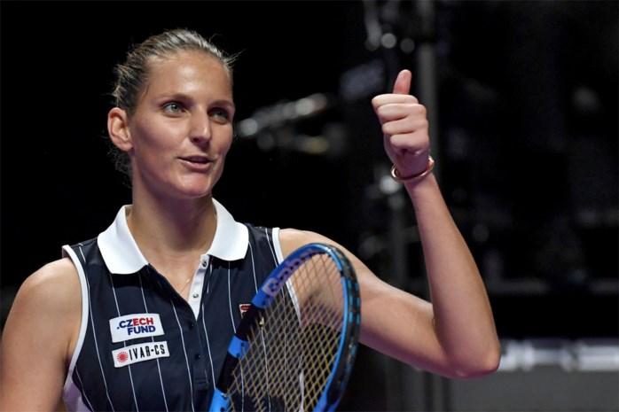 Karolina Pliskova verovert laatste ticket voor halve finales van WTA Finals