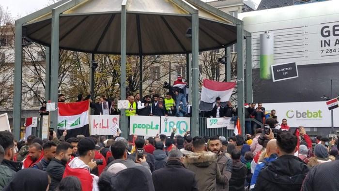 Antwerpse Irakezen manifesteren tegen geweld in thuisland