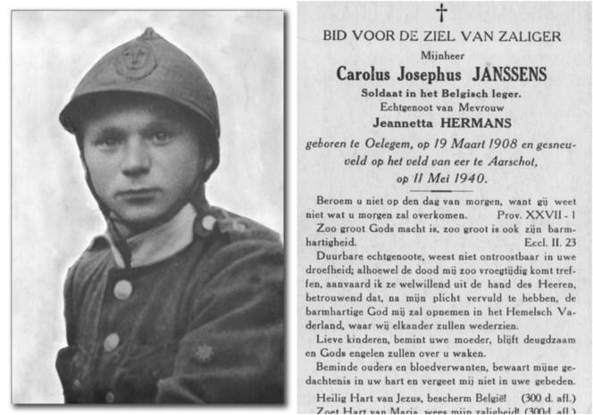 Vergeten oorlogsheld uit Oelegem krijgt online standbeeld