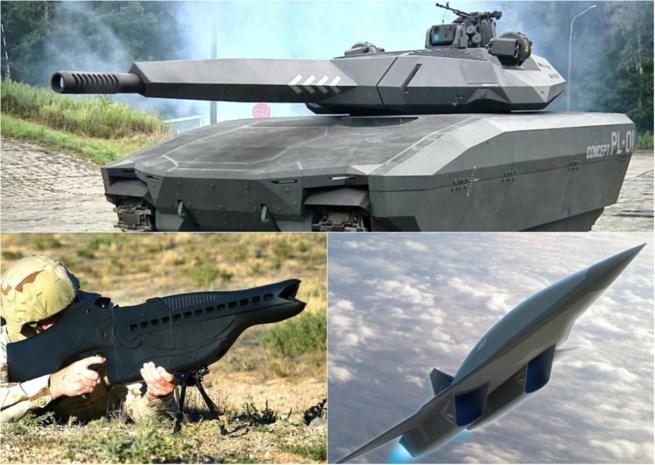De wapens van de toekomst komen recht uit sciencefictionfilms