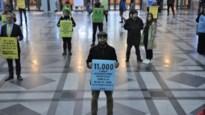 """Extinction Rebellion voert actie voor klimaat in Centraal Station: """"We blijven actievoeren zolang het nodig is"""""""