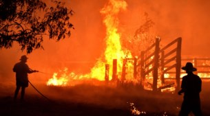 """Antwerps gezin in Australië: """"We hebben vandaag al het hout rond ons huis al twee keer natgespoten"""""""